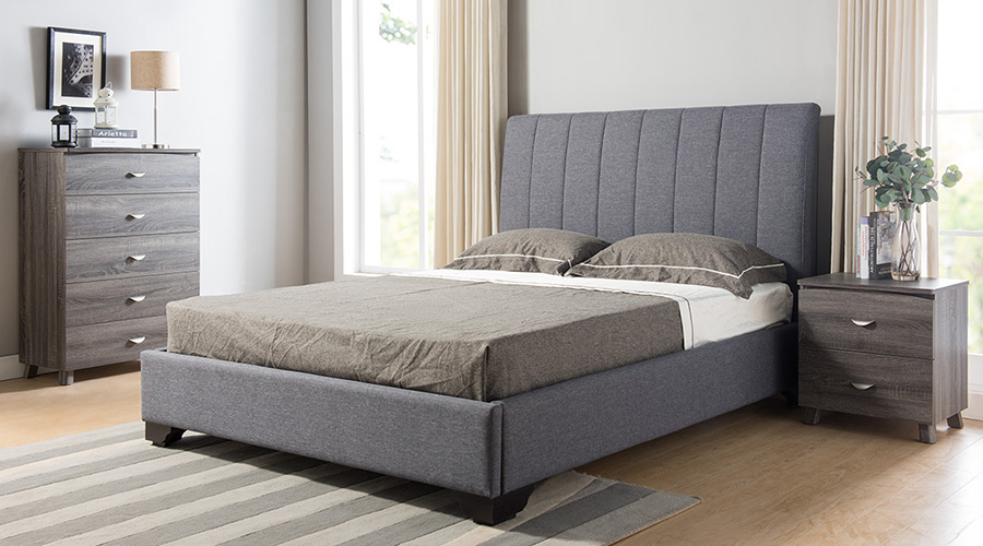 Queen Size Bedframe Chest Upholstered Bed 9002f Gry Dining